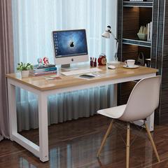 简易电脑桌台式桌家用写字台书桌简约现代钢木办公桌子双人桌