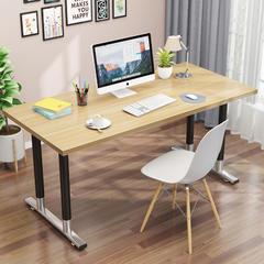 电脑桌台式桌家用简易写字台书桌钢木简约现代学习桌办公桌双人桌