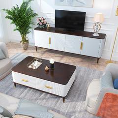美式轻奢电视柜客厅卧室电视桌小户型储物柜高地柜玄关柜成套家具