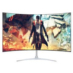 安美特27英寸四面无边框电脑曲面显示器 台式电竞PS4高清液晶屏幕